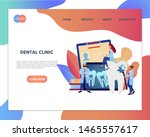 web page template of online...   Shutterstock .eps vector #1465557617