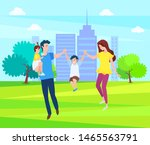 happy family  mother  father... | Shutterstock .eps vector #1465563791