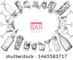 alcoholic cocktails hand drawn... | Shutterstock .eps vector #1465583717