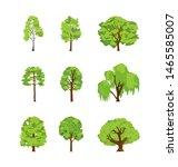 cartoon trees differents birch...   Shutterstock .eps vector #1465585007