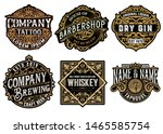 set of 6 badges and logos | Shutterstock .eps vector #1465585754