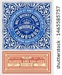 old  label design for whiskey... | Shutterstock .eps vector #1465585757