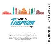 vector illustration of world...   Shutterstock .eps vector #1465608914