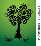 curly tree   Shutterstock .eps vector #14656186