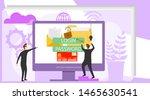 hackers hack account on the... | Shutterstock .eps vector #1465630541