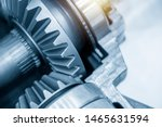 Small photo of Close-up scene of the differential gear of automotive transmission system.The abstract scene of the drive and pinion gear parts.