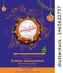 illustration of dahi handi... | Shutterstock .eps vector #1465633757