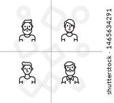avatar  human  people lineal... | Shutterstock .eps vector #1465634291