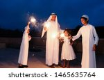 An Arabic Family  Enjoying The...