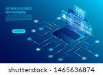 software development coding and ... | Shutterstock .eps vector #1465636874