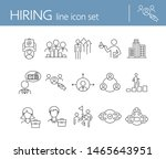 hiring line icon set. team ... | Shutterstock .eps vector #1465643951