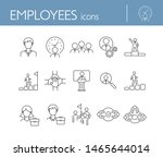employees icons. line icons... | Shutterstock .eps vector #1465644014