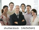 Group Of Multiethnic Business...