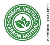 carbon neutral green rubber...   Shutterstock .eps vector #1465658444