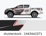 truck decal wrap design vector. ... | Shutterstock .eps vector #1465662371