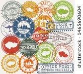 brno switzerland set of stamps. ... | Shutterstock .eps vector #1465690604