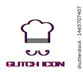 chef icon flat. simple... | Shutterstock .eps vector #1465707407