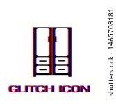 cupboard icon flat. simple... | Shutterstock .eps vector #1465708181