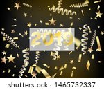 2019 christmas tinsel confetti  ... | Shutterstock .eps vector #1465732337