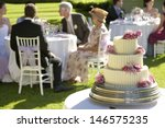 Closeup Of Weeding Cake With...