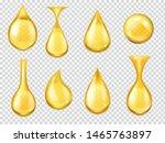 realistic oil drops. falling... | Shutterstock .eps vector #1465763897