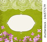 lilac flowers and lace  vector... | Shutterstock .eps vector #146577179