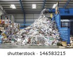 waste falling on pile from... | Shutterstock . vector #146583215