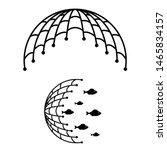 Fishing Net Icon  Logo Isolate...