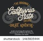 california. vintage script font.... | Shutterstock .eps vector #1465835444