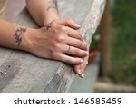 Female Hands  Tattoo And...