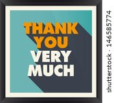 thank you card poster | Shutterstock .eps vector #146585774