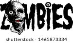 scary zombies design with...   Shutterstock .eps vector #1465873334