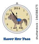 12 o'clock   happy new year  ... | Shutterstock .eps vector #146588375