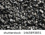 Small photo of Wet enriched coal anthracite fines in bulk.