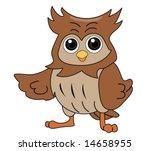 owl   vector | Shutterstock .eps vector #14658955