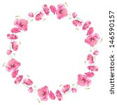 painted watercolor wreath of... | Shutterstock . vector #146590157