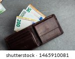 Open Wallet With Euro Currency...