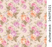 seamless pattern with vintage... | Shutterstock .eps vector #146591321