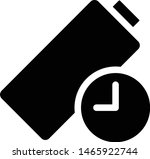 long battery life icon  vector... | Shutterstock .eps vector #1465922744