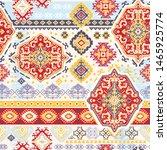indian rug tribal ornament...   Shutterstock .eps vector #1465925774