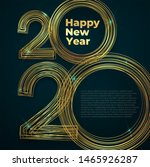 gold lines new year 2020... | Shutterstock .eps vector #1465926287