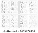 set of black and white... | Shutterstock .eps vector #1465927334