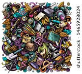 cartoon doodles school... | Shutterstock . vector #1465928024