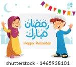 vector illustration of happy... | Shutterstock .eps vector #1465938101