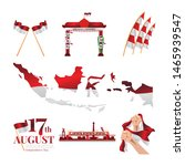 set of isolated for indonesia's ... | Shutterstock .eps vector #1465939547