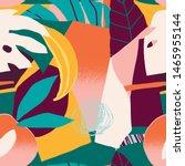 abstract modern tropical... | Shutterstock .eps vector #1465955144