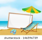 illustration of a beach with an ... | Shutterstock .eps vector #146596739