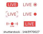 live  steam logo .  live video... | Shutterstock .eps vector #1465970027