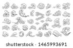 set of oriental wave... | Shutterstock .eps vector #1465993691