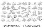 set of oriental wave... | Shutterstock .eps vector #1465993691